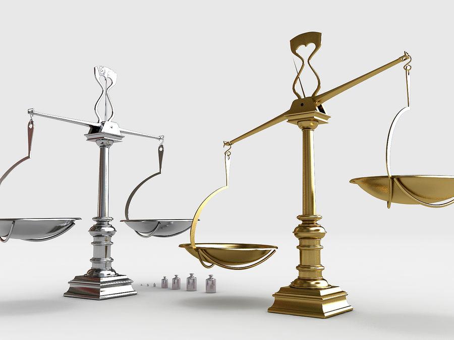 Precision balance royalty-free 3d model - Preview no. 2