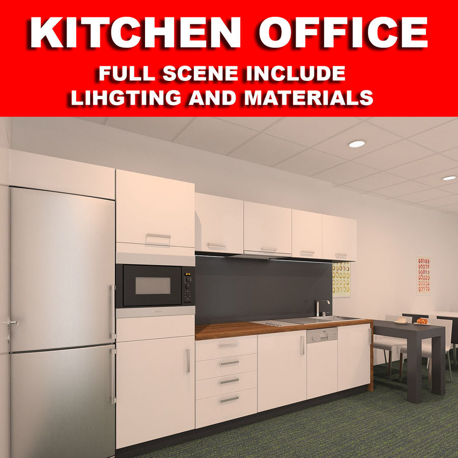 Kitchen 3D Model $39 -  fbx  obj  max - Free3D