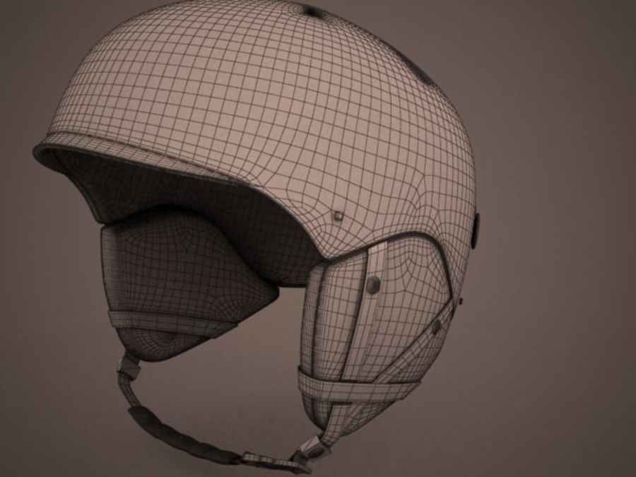 Sport helmets collection royalty-free 3d model - Preview no. 5