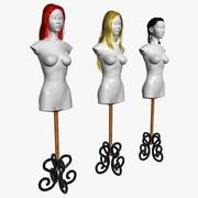 Hairstyles (Wigs) 3d model