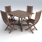 Conjunto de muebles de porche 5 modelo 3d