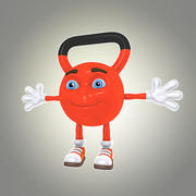 만화 kettlebell 3d model