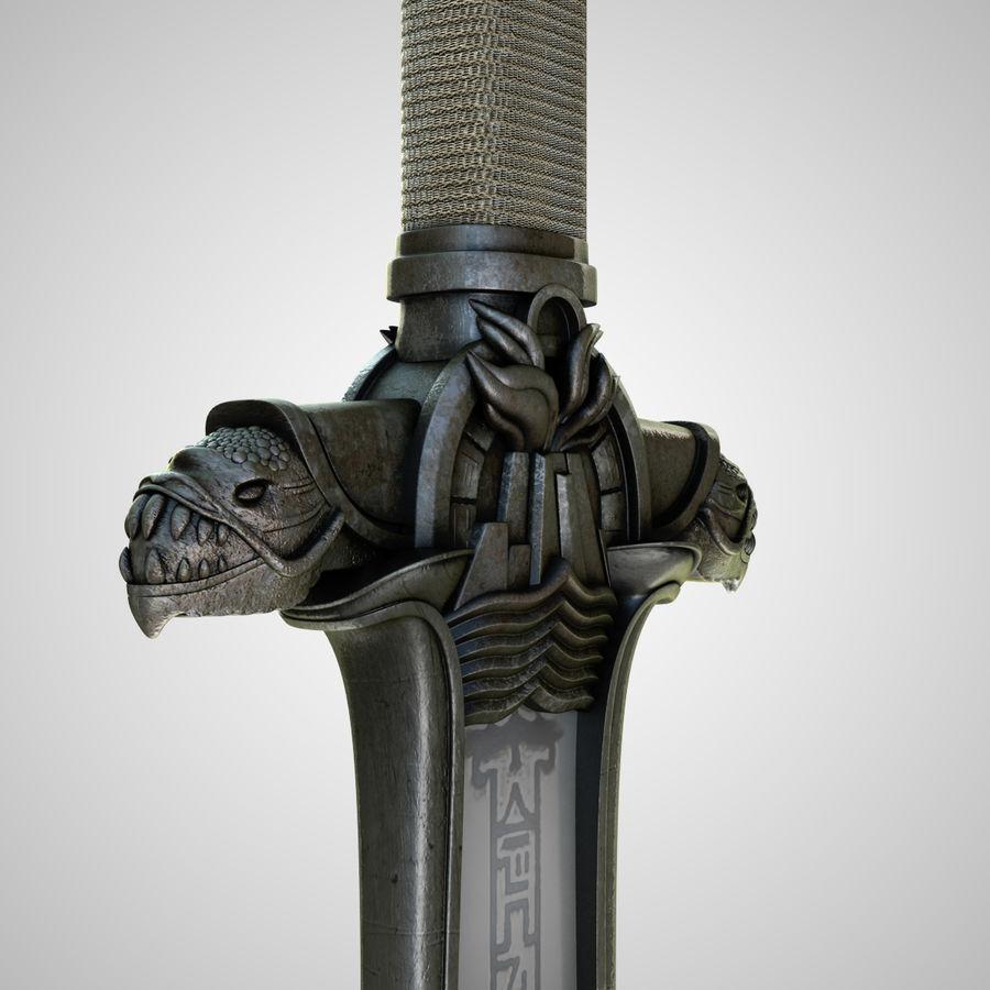 Conan Atlantean King Sword royalty-free 3d model - Preview no. 4