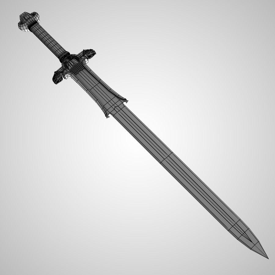 Conan Atlantean King Sword royalty-free 3d model - Preview no. 8
