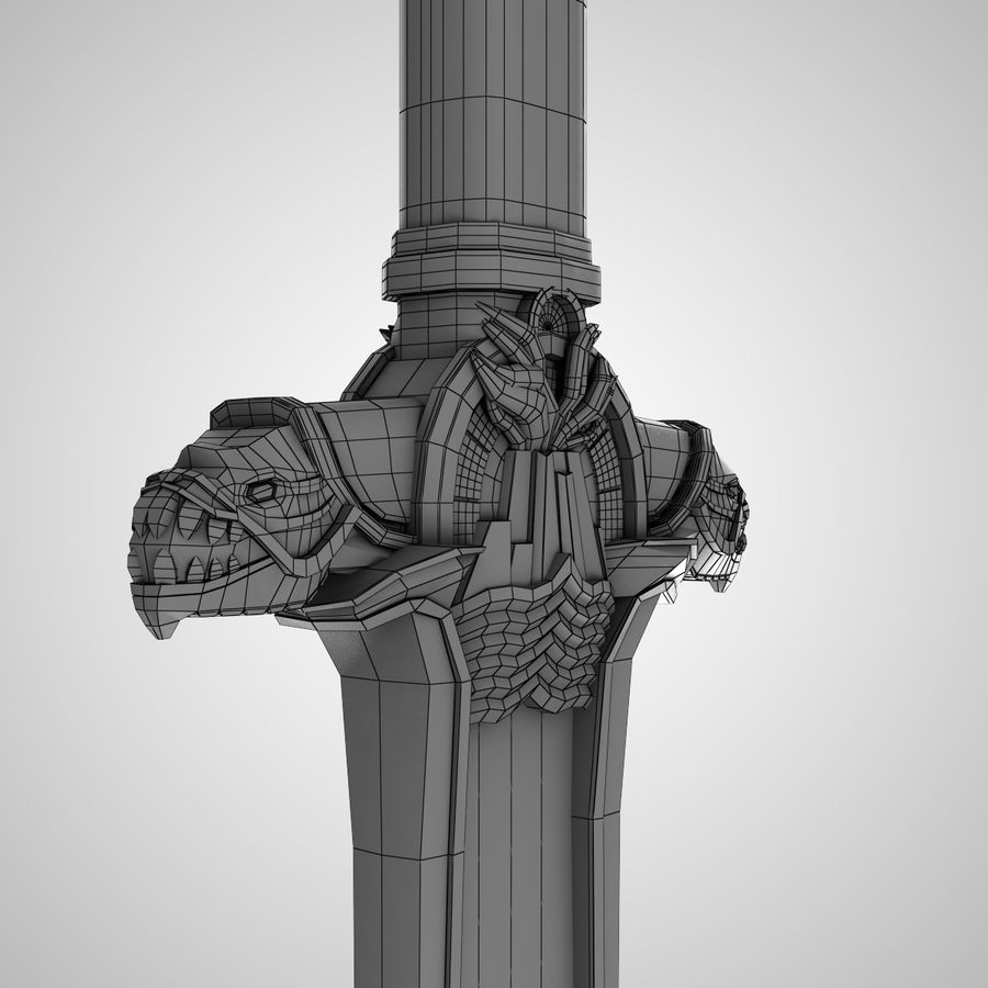 Conan Atlantean King Sword royalty-free 3d model - Preview no. 7
