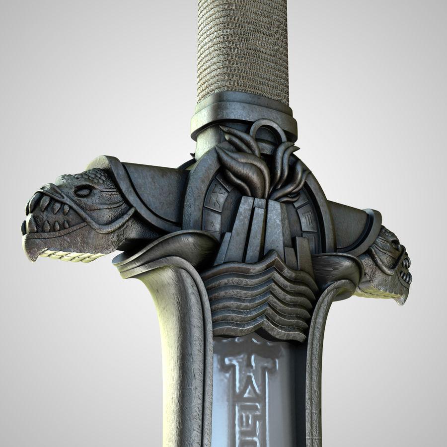 Conan Atlantean King Sword royalty-free 3d model - Preview no. 3