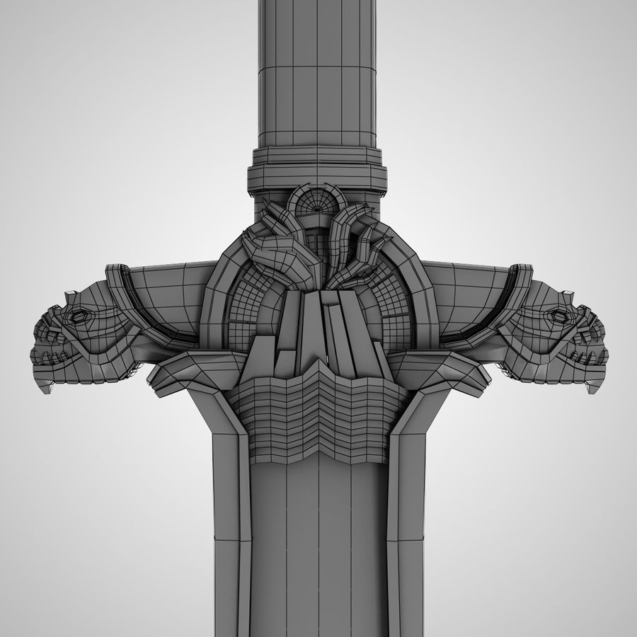 Conan Atlantean King Sword royalty-free 3d model - Preview no. 5