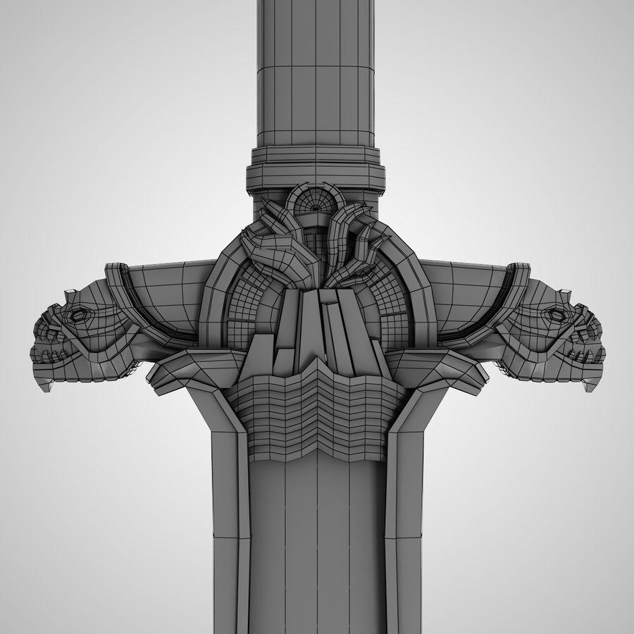 Conan Atlantean King Sword royalty-free 3d model - Preview no. 5