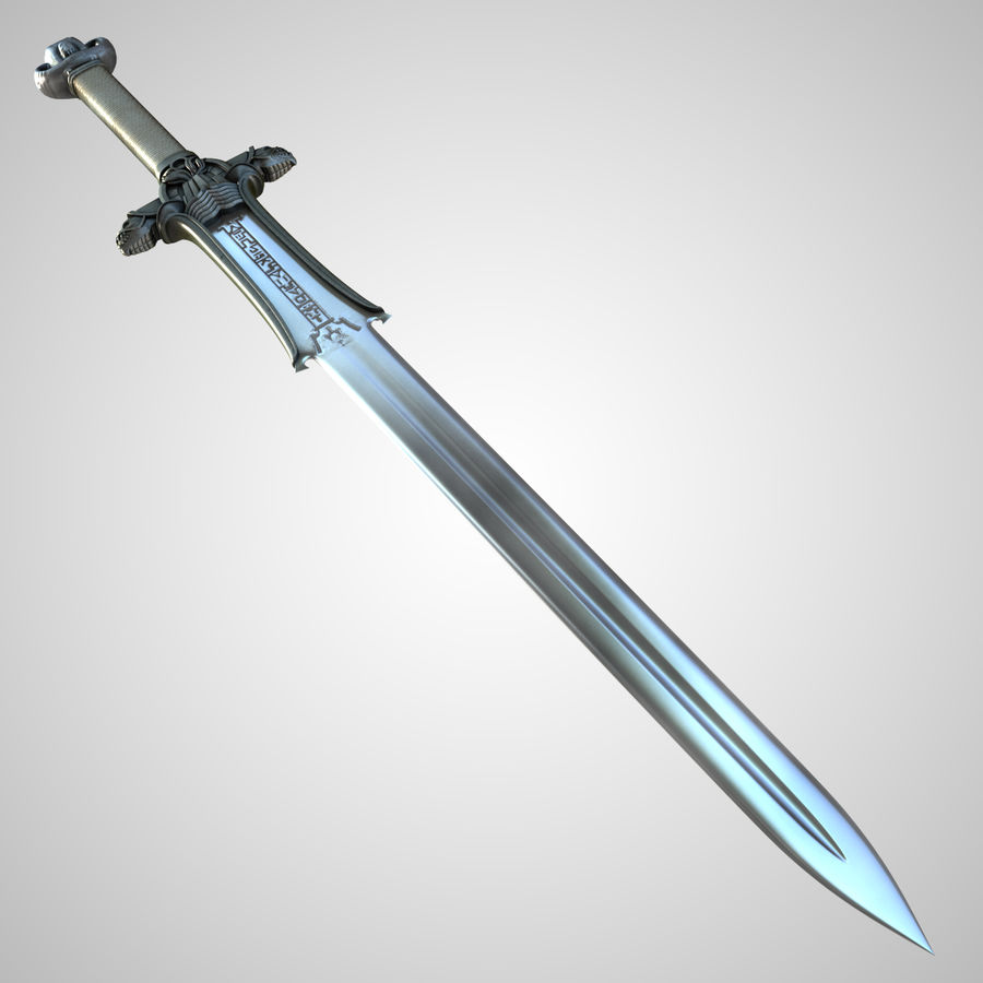 Conan Atlantean King Sword royalty-free 3d model - Preview no. 1