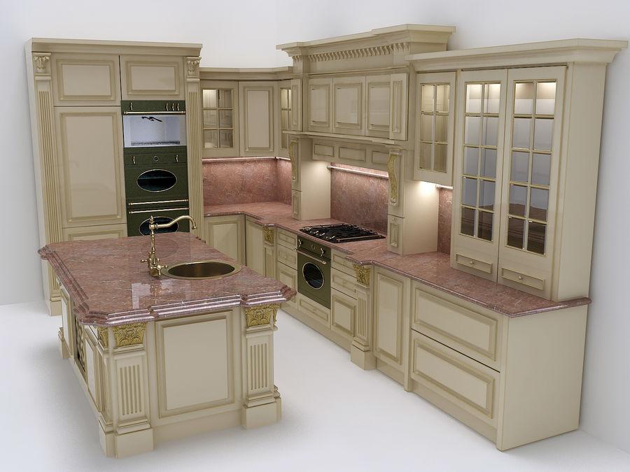 Muebles de cocina clásicos. Modelo 3D $29 - .max - Free3D