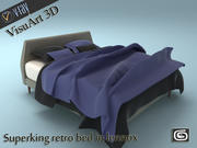 Superking retro bed in lennox 3d model