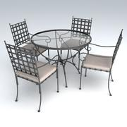 Porch Furniture Set 4 3d model