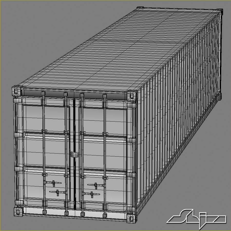 Conteneur 40 ft royalty-free 3d model - Preview no. 7