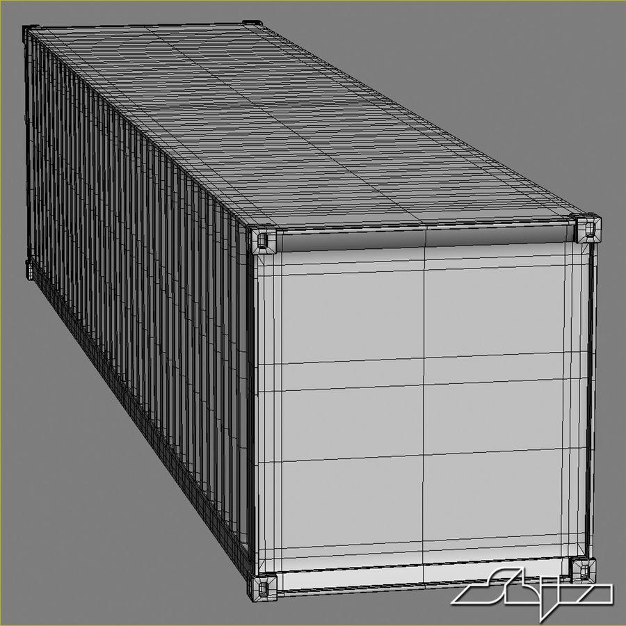 Conteneur 40 ft royalty-free 3d model - Preview no. 8