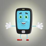 téléphone de dessin animé 2 3d model