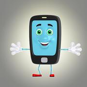 cartoon phone 2 3d model