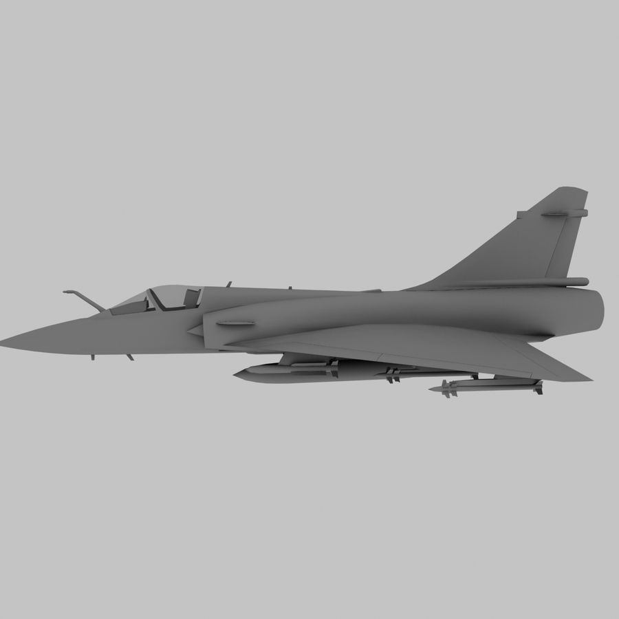Mirage 2000 French Jet Fighter Aircraft Game royalty-free 3d model - Preview no. 10