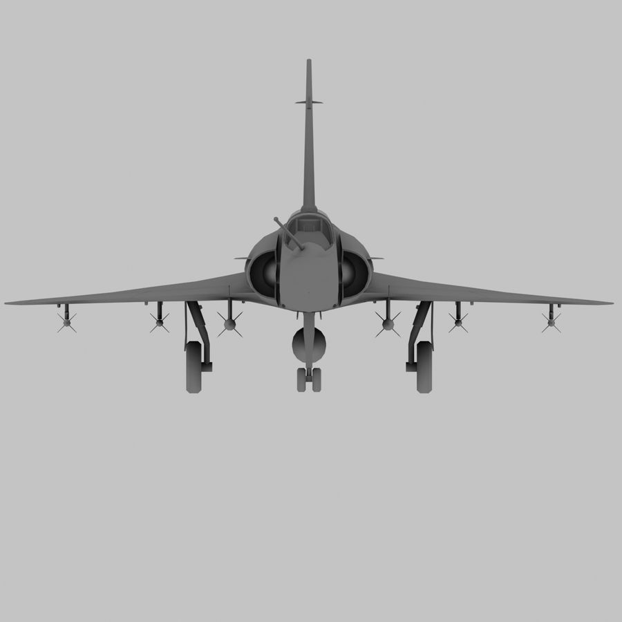 Mirage 2000 French Jet Fighter Aircraft Game royalty-free 3d model - Preview no. 19