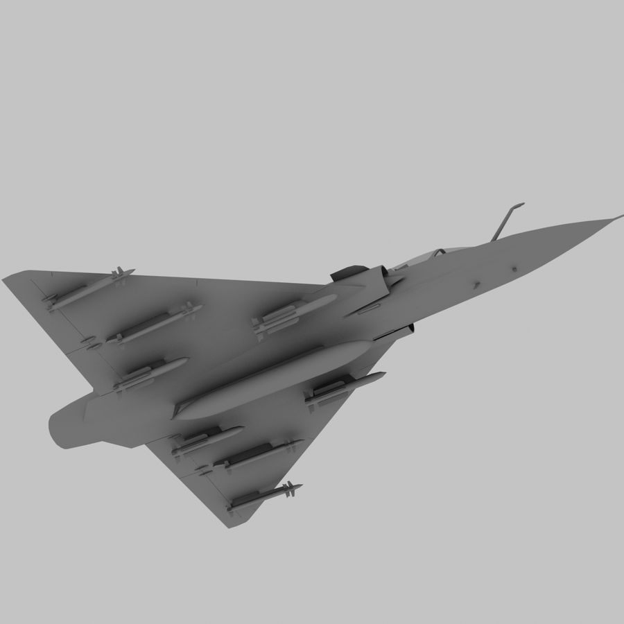 Mirage 2000 French Jet Fighter Aircraft Game royalty-free 3d model - Preview no. 14