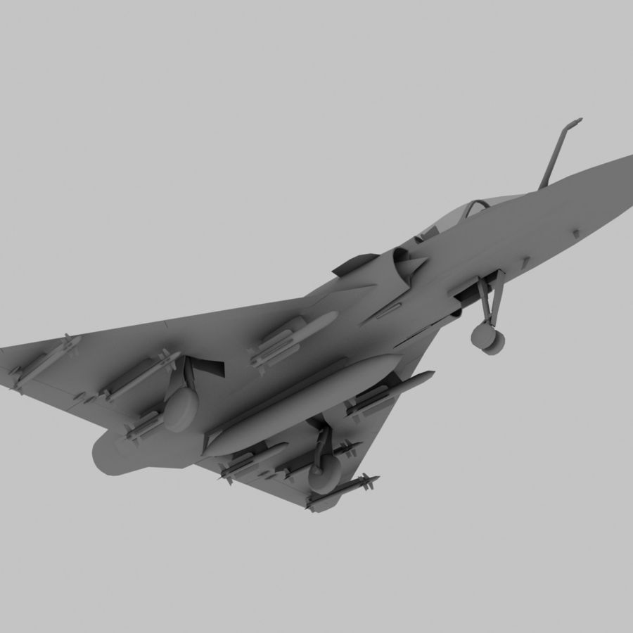 Mirage 2000 French Jet Fighter Aircraft Game royalty-free 3d model - Preview no. 16