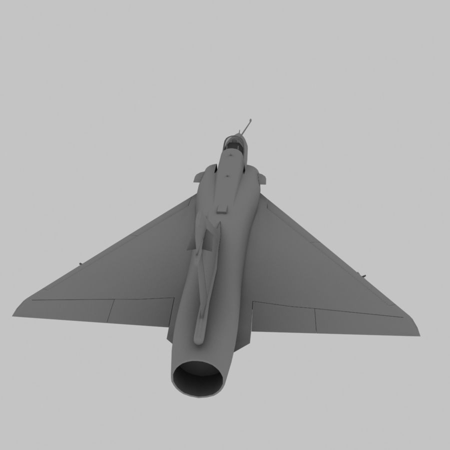 Mirage 2000 French Jet Fighter Aircraft Game royalty-free 3d model - Preview no. 7