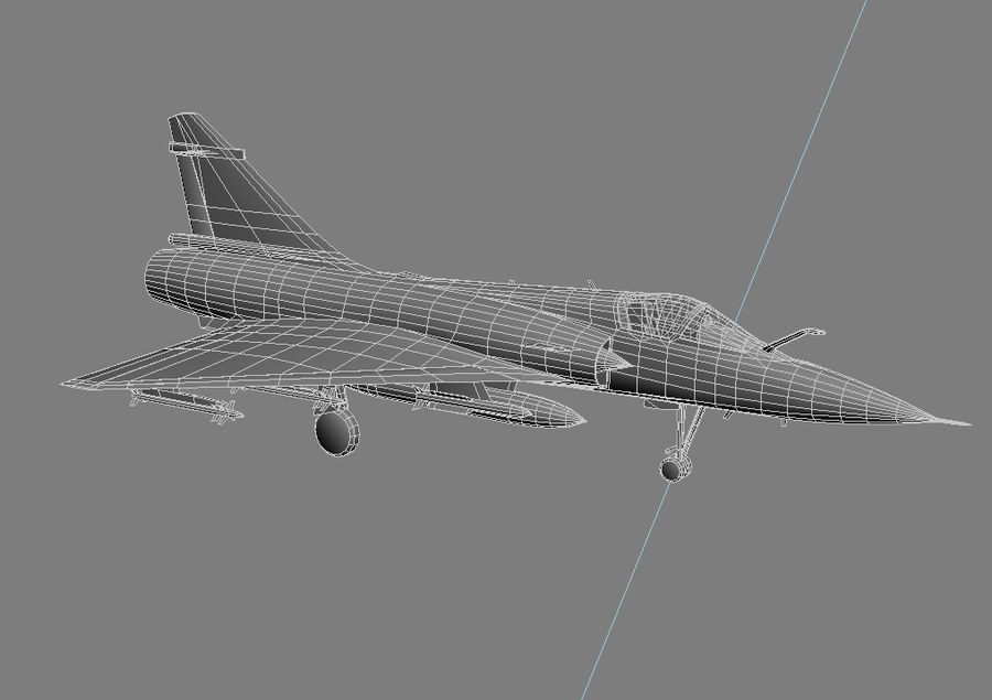 Mirage 2000 French Jet Fighter Aircraft Game royalty-free 3d model - Preview no. 23