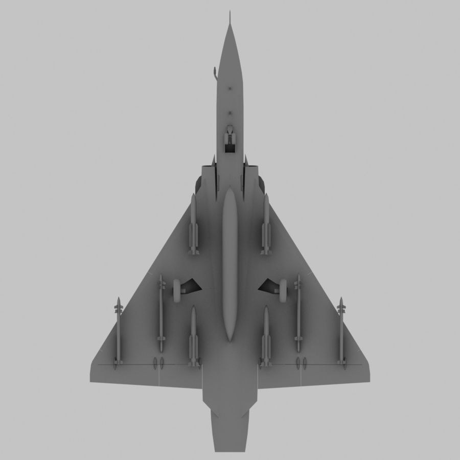 Mirage 2000 French Jet Fighter Aircraft Game royalty-free 3d model - Preview no. 20