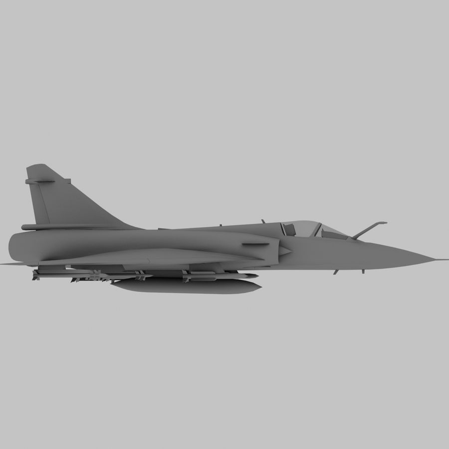 Mirage 2000 French Jet Fighter Aircraft Game royalty-free 3d model - Preview no. 4
