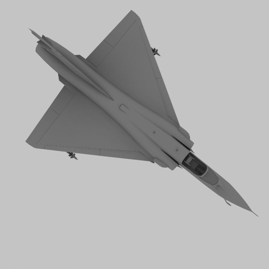 Mirage 2000 French Jet Fighter Aircraft Game royalty-free 3d model - Preview no. 13