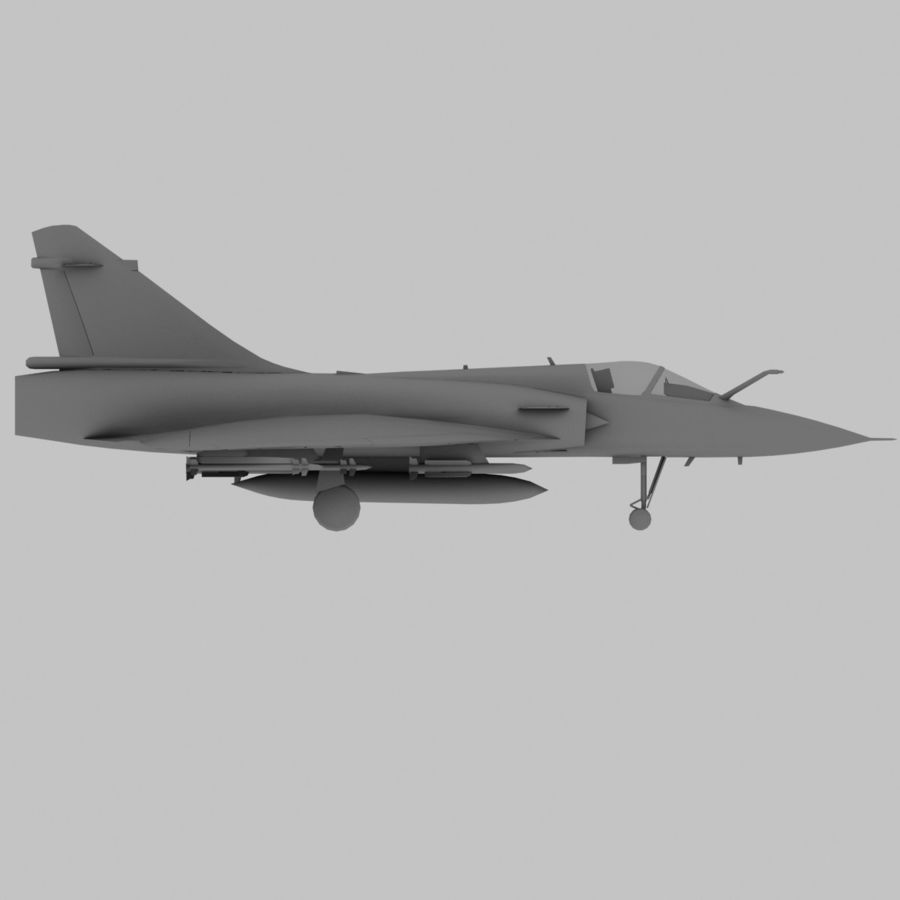 Mirage 2000 French Jet Fighter Aircraft Game royalty-free 3d model - Preview no. 18