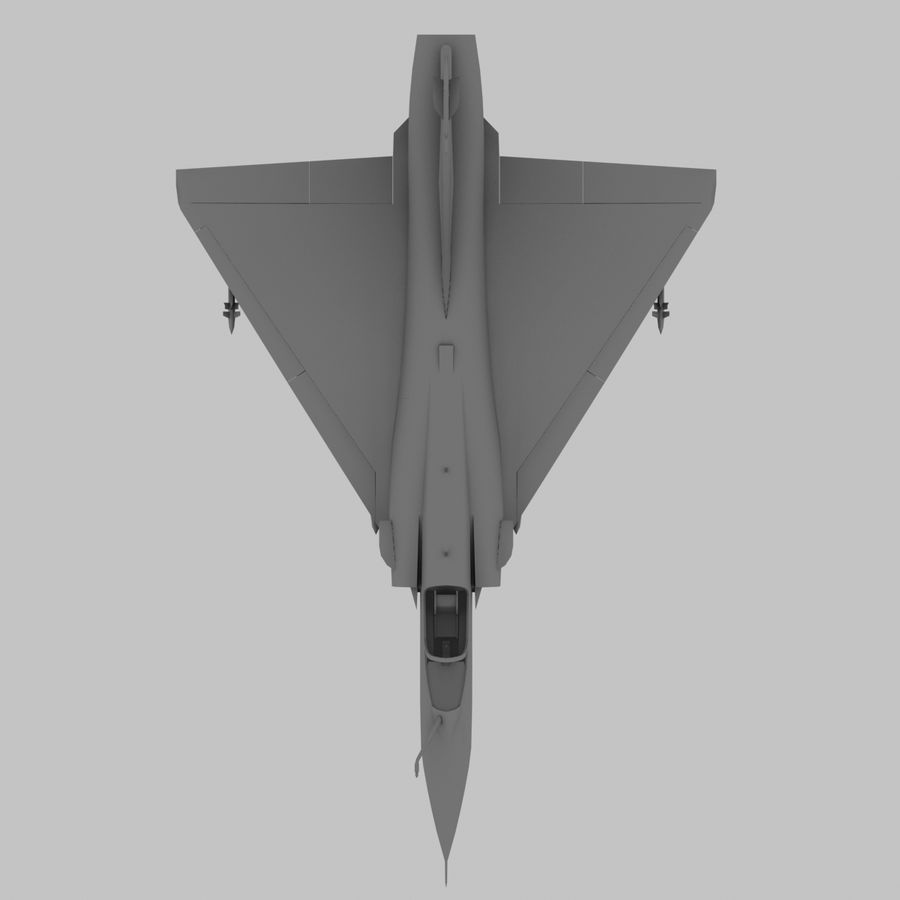 Mirage 2000 French Jet Fighter Aircraft Game royalty-free 3d model - Preview no. 17