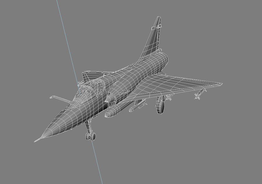 Mirage 2000 French Jet Fighter Aircraft Game royalty-free 3d model - Preview no. 26