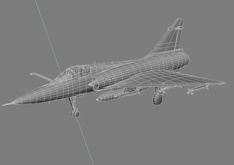 Mirage 2000 French Jet Fighter Aircraft Game royalty-free 3d model - Preview no. 27