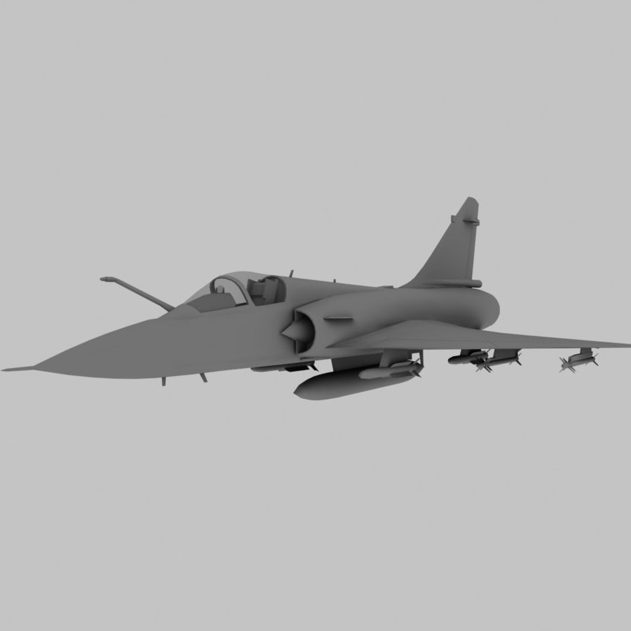 Mirage 2000 French Jet Fighter Aircraft Game royalty-free 3d model - Preview no. 11