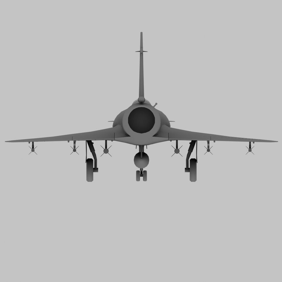 Mirage 2000 French Jet Fighter Aircraft Game royalty-free 3d model - Preview no. 21