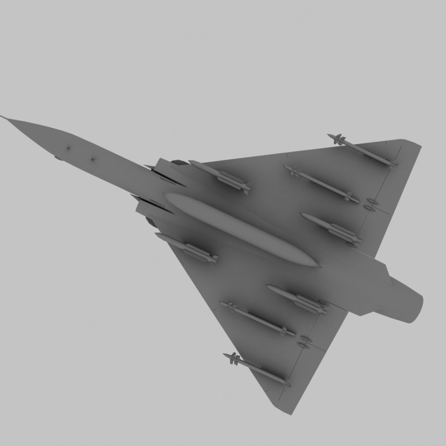 Mirage 2000 French Jet Fighter Aircraft Game royalty-free 3d model - Preview no. 15