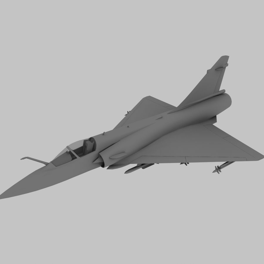 Mirage 2000 French Jet Fighter Aircraft Game royalty-free 3d model - Preview no. 12