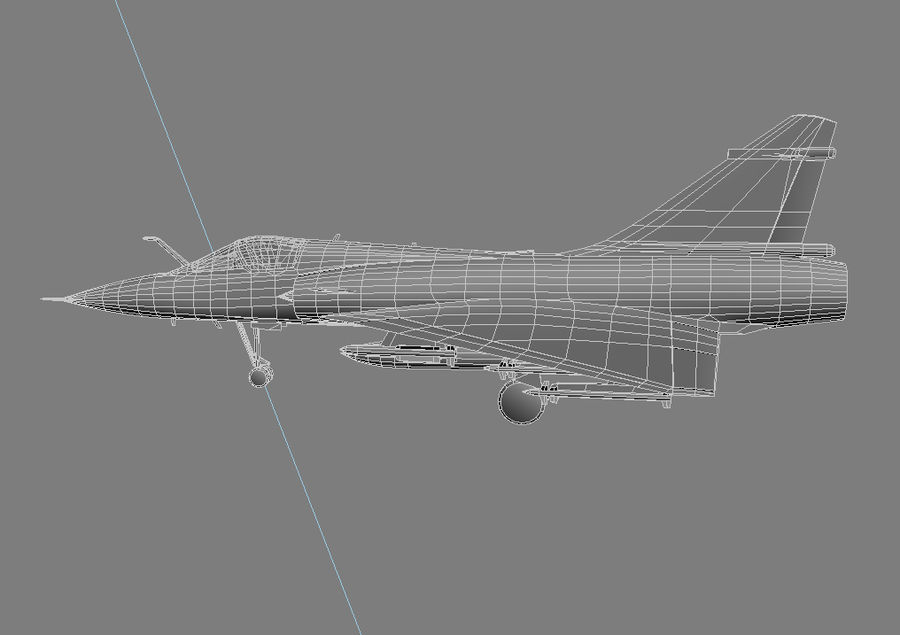 Mirage 2000 French Jet Fighter Aircraft Game royalty-free 3d model - Preview no. 28