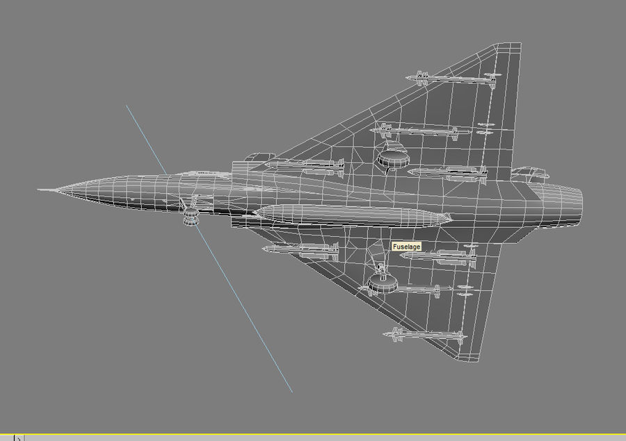 Mirage 2000 French Jet Fighter Aircraft Game royalty-free 3d model - Preview no. 31