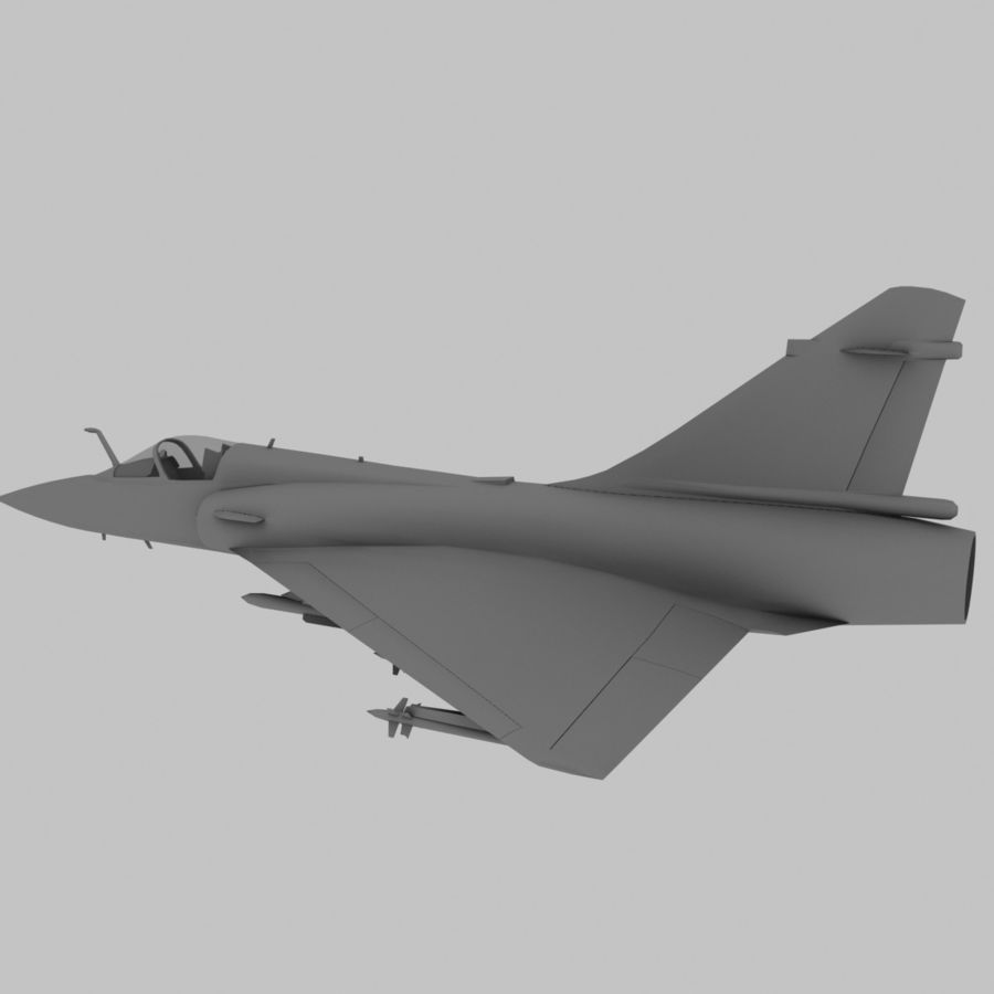 Mirage 2000 French Jet Fighter Aircraft Game royalty-free 3d model - Preview no. 9