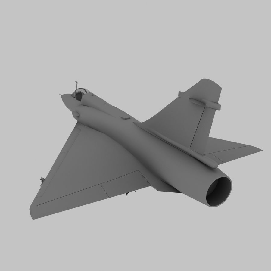 Mirage 2000 French Jet Fighter Aircraft Game royalty-free 3d model - Preview no. 8