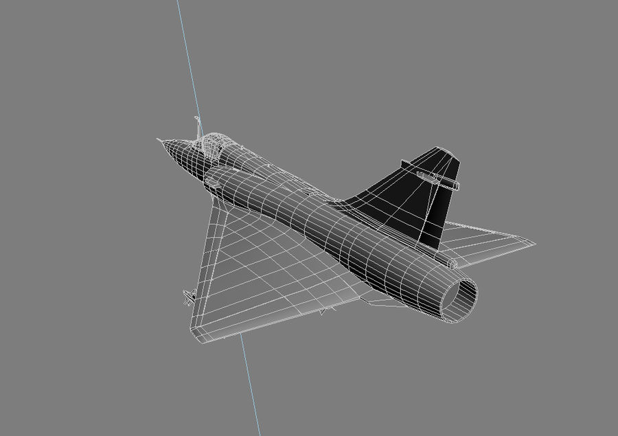 Mirage 2000 French Jet Fighter Aircraft Game royalty-free 3d model - Preview no. 29
