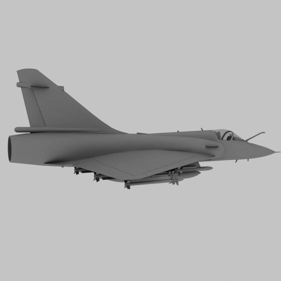 Mirage 2000 French Jet Fighter Aircraft Game royalty-free 3d model - Preview no. 5