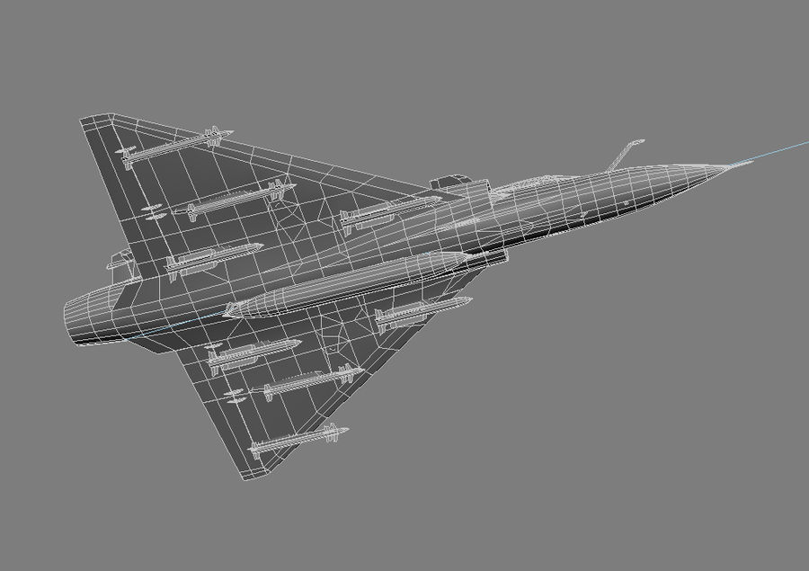 Mirage 2000 French Jet Fighter Aircraft Game royalty-free 3d model - Preview no. 32