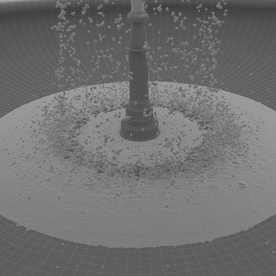 fountain royalty-free 3d model - Preview no. 4