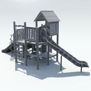 Terrain de jeu moyen 1 3d model