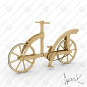 wooden bicycle 3d model