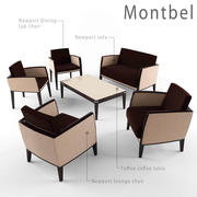 montbel furniture set 3d model