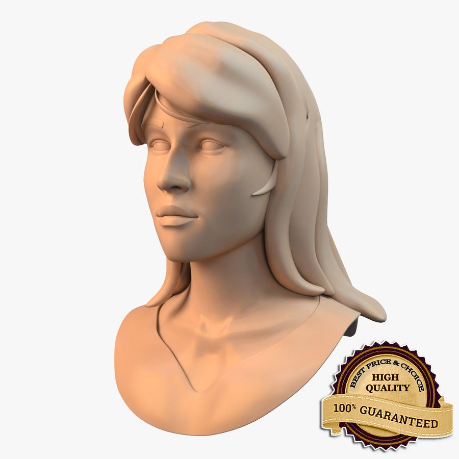 Female Face royalty-free 3d model - Preview no. 1