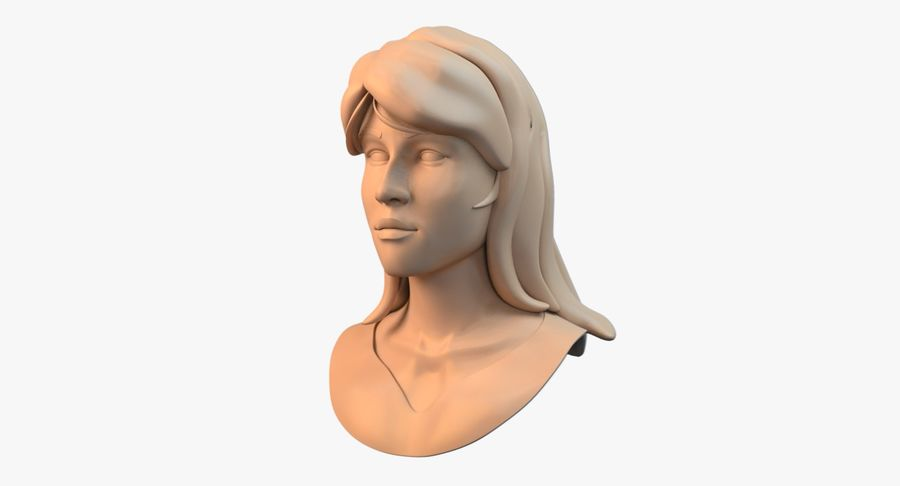 Female Face royalty-free 3d model - Preview no. 2